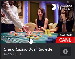 Grand Casino Dual Rulet